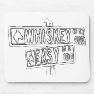 Whiskey Rd & Easy St Mouse Pad