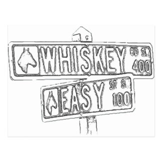 Whiskey Rd & Easy St Post Card