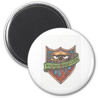 whiskey rebellion logo 2 inch round magnet