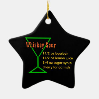 Whiskey Sour Ceramic Ornament