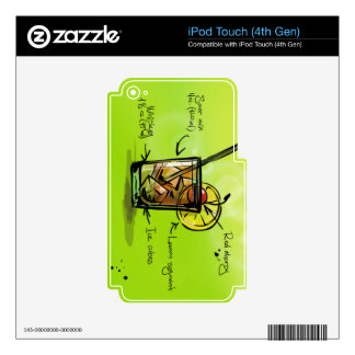 Whiskey Sour - Cocktail Gift iPod Touch 4G Decals