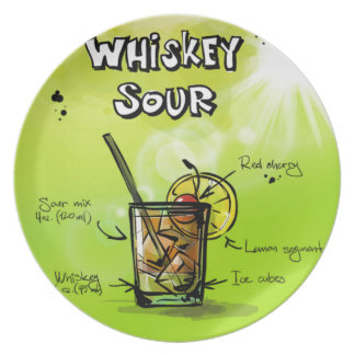 Whiskey Sour - Cocktail Gift Plate