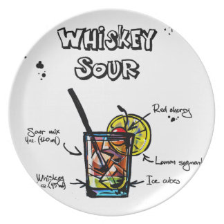 Whiskey Sour Cocktail  Recipe Plate