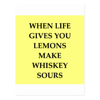 whiskey sours postcard