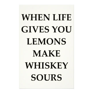 whiskey sours stationery paper