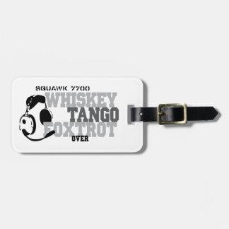 Whiskey Tango Foxtrot - Aviation Humor Bag Tag