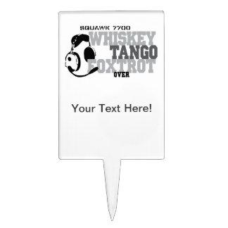 Whiskey Tango Foxtrot - Aviation Humor Cake Topper