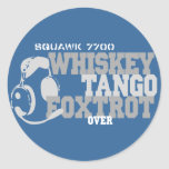 Whiskey Tango Foxtrot - Aviation Humor Classic Round Sticker