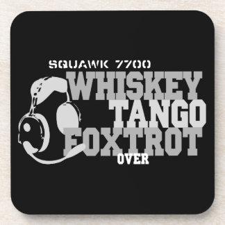 Whiskey Tango Foxtrot - Aviation Humor Coaster