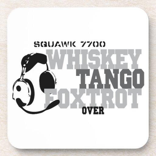Whiskey Tango Foxtrot - Aviation Humor Drink Coaster