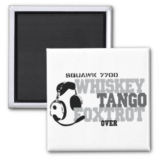 Whiskey Tango Foxtrot - Aviation Humor 2 Inch Square Magnet