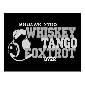 Whiskey Tango Foxtrot - Aviation Humor Postcard