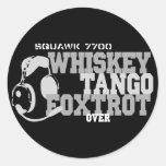 Whiskey Tango Foxtrot - Aviation Humor Sticker