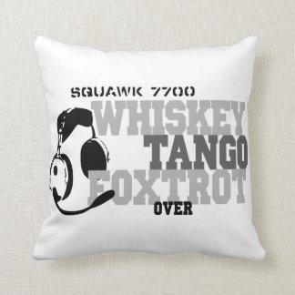 Whiskey Tango Foxtrot - Aviation Humor Throw Pillows