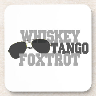 Whiskey Tango Foxtrot - Aviation sun glasses Coaster