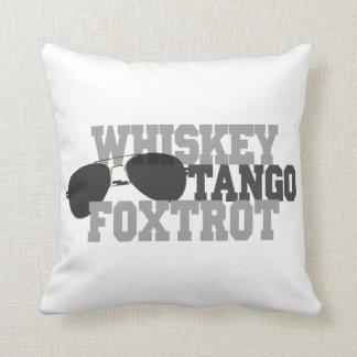 Whiskey Tango Foxtrot - Aviation sun glasses Throw Pillows