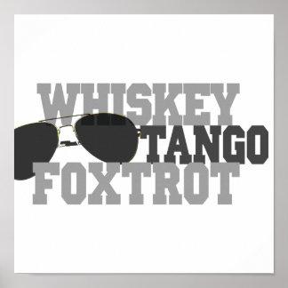 Whiskey Tango Foxtrot - Aviation sun glasses Poster