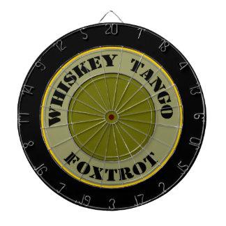 Whiskey Tango Foxtrot Dartboard With Darts