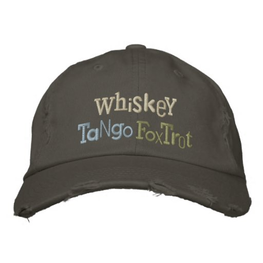 Whiskey Tango Foxtrot Eclectic Embroidery Hat Embroidered Baseball Caps