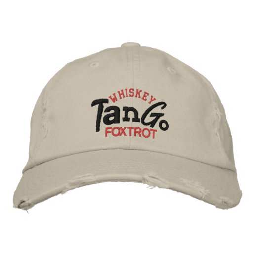 Whiskey Tango Foxtrot Embroidery Hat Embroidered Baseball Cap