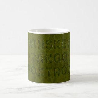 Whiskey Tango Foxtrot Morphing Mug