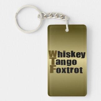 Whiskey Tango Foxtrot Single-Sided Rectangular Acrylic Keychain
