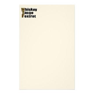 Whiskey Tango Foxtrot Stationery Paper