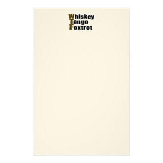 Whiskey Tango Foxtrot Custom Stationery