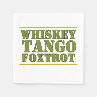Whiskey Tango Foxtrot WTF Military Slogan Napkin