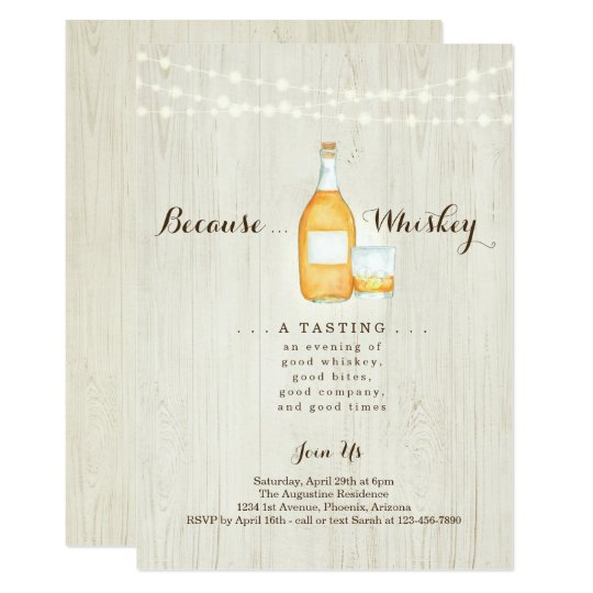 Whiskey Tasting Party Invitation Zazzle Com