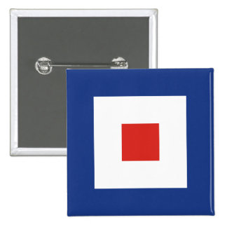 Whiskey (W) Signal Flag Buttons