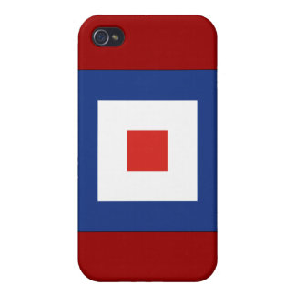 Whiskey (W) Signal Flag iPhone 4 Case