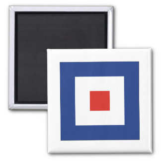Whiskey (W) Signal Flag Magnet