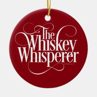 Whiskey Whisperer Ceramic Ornament