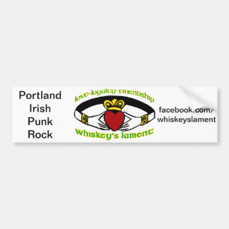 Whiskey's Lament Caddagh bumper sticker