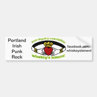 Whiskey's Lament Caddagh bumper sticker Car Bumper Sticker