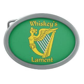 Whiskey's Lament oval belt buckle