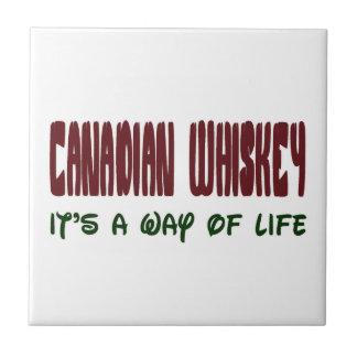 Whisky canadiense es una manera de vida azulejo cuadrado pequeño