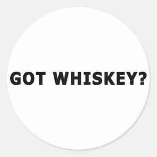 ¿Whisky conseguido? Etiquetas Redondas