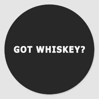 Whisky conseguido etiqueta redonda