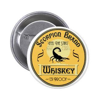 Whisky de la marca del escorpión pin