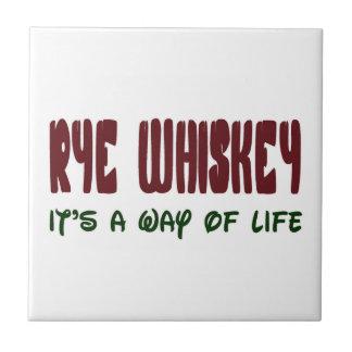 Whisky de Rye es una manera de vida Azulejo Cuadrado Pequeño