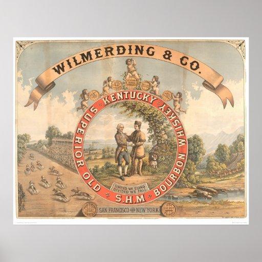 Whisky de Wilmerding y del Co. Kentucky (1855A) Impresiones