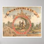 Whisky de Wilmerding y del Co. Kentucky (1855A) Póster