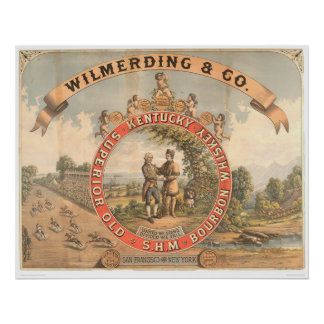 Whisky de Wilmerding y del Co. Kentucky (1855A) Póster