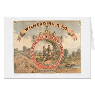 Whisky de Wilmerding y del Co. Kentucky (1855A) Tarjeton
