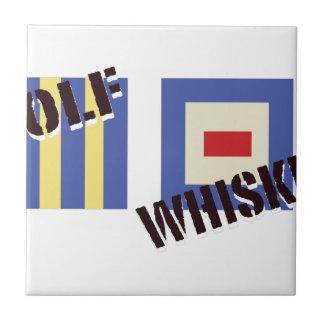 Whisky del golf azulejo cuadrado pequeño