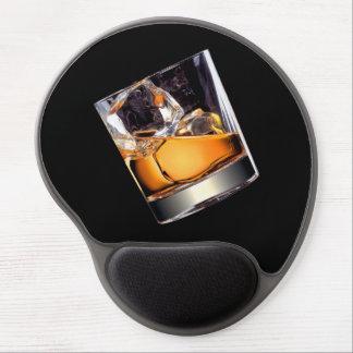 Whisky en el cojín de ratón del gel de las rocas alfombrillas de ratón con gel
