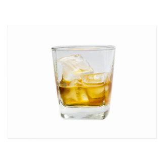 Whisky en las rocas tarjeta postal