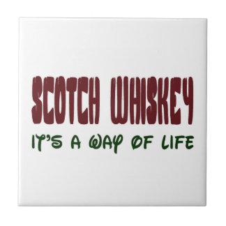 Whisky escocés es una manera de vida azulejo cuadrado pequeño